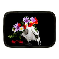 Animal Skull With A Wreath Of Wild Flower Netbook Case (medium)  by igorsin