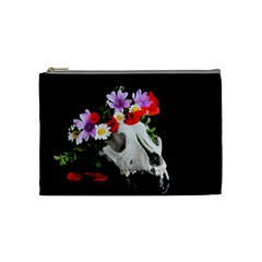 Animal Skull With A Wreath Of Wild Flower Cosmetic Bag (medium)  by igorsin
