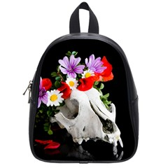 Animal Skull With A Wreath Of Wild Flower School Bag (small) by igorsin