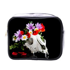 Animal Skull With A Wreath Of Wild Flower Mini Toiletries Bags by igorsin