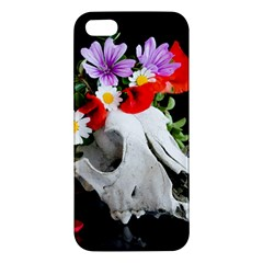 Animal Skull With A Wreath Of Wild Flower Apple Iphone 5 Premium Hardshell Case by igorsin
