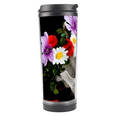 Animal Skull With A Wreath Of Wild Flower Travel Tumbler by igorsin