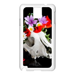 Animal Skull With A Wreath Of Wild Flower Samsung Galaxy Note 3 N9005 Case (white) by igorsin