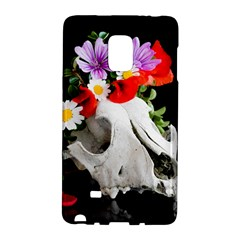 Animal Skull With A Wreath Of Wild Flower Galaxy Note Edge by igorsin