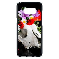 Animal Skull With A Wreath Of Wild Flower Samsung Galaxy S8 Plus Black Seamless Case by igorsin