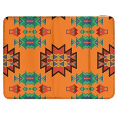 Misc Shapes On An Orange Background                              Htc One M7 Hardshell Case by LalyLauraFLM