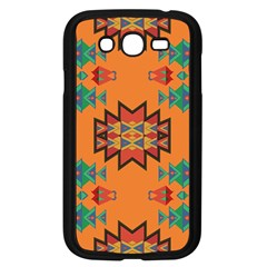 Misc Shapes On An Orange Background                              Samsung Galaxy S4 I9500/ I9505 Case (black) by LalyLauraFLM