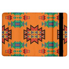 Misc Shapes On An Orange Background                              Apple Ipad Mini 2 Flip Case by LalyLauraFLM