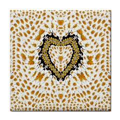 Hearts In A Field Of Fantasy Flowers In Bloom Tile Coasters by pepitasart