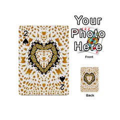 Hearts In A Field Of Fantasy Flowers In Bloom Playing Cards 54 (mini)  by pepitasart
