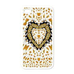 Hearts In A Field Of Fantasy Flowers In Bloom Apple Iphone 4 Case (white) by pepitasart