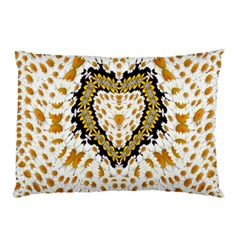 Hearts In A Field Of Fantasy Flowers In Bloom Pillow Case (two Sides) by pepitasart