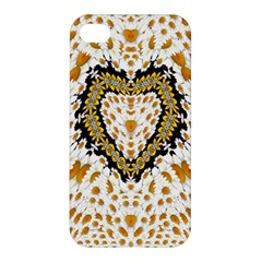 Hearts In A Field Of Fantasy Flowers In Bloom Apple Iphone 4/4s Hardshell Case by pepitasart