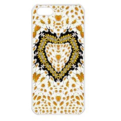 Hearts In A Field Of Fantasy Flowers In Bloom Apple Iphone 5 Seamless Case (white) by pepitasart