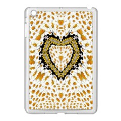 Hearts In A Field Of Fantasy Flowers In Bloom Apple Ipad Mini Case (white) by pepitasart