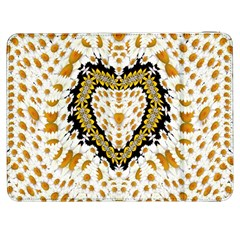Hearts In A Field Of Fantasy Flowers In Bloom Samsung Galaxy Tab 7  P1000 Flip Case by pepitasart