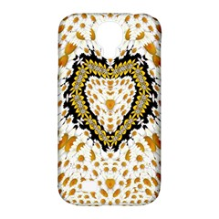 Hearts In A Field Of Fantasy Flowers In Bloom Samsung Galaxy S4 Classic Hardshell Case (pc+silicone) by pepitasart