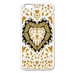 Hearts In A Field Of Fantasy Flowers In Bloom Apple Iphone 6 Plus/6s Plus Enamel White Case by pepitasart