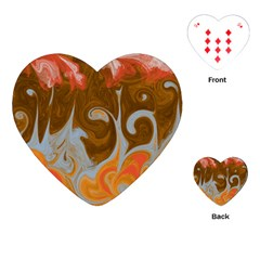 Fire And Water Playing Cards (heart)  by digitaldivadesigns