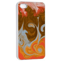 Fire And Water Apple Iphone 4/4s Seamless Case (white) by digitaldivadesigns
