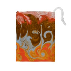 Fire And Water Drawstring Pouches (large)