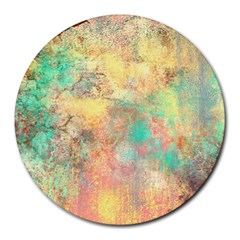 Pink Pastel Abstract Round Mousepads by digitaldivadesigns