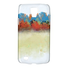 Colorful Tree Landscape In Orange And Blue Galaxy S4 Active by digitaldivadesigns