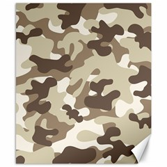 Camouflage Brown Pattern Canvas 8  X 10  by goodart
