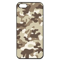 Camouflage Brown Pattern Apple Iphone 5 Seamless Case (black) by goodart