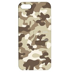 Camouflage Brown Pattern Apple Iphone 5 Hardshell Case With Stand by goodart