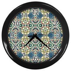 Colorful Abstract Background Wall Clocks (black) by goodart