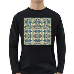 Colorful Abstract Background Long Sleeve Dark T Shirts