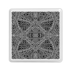 Black And White Psychedelic Pattern Memory Card Reader (square)  by goodart