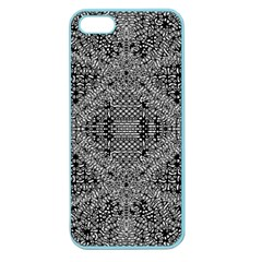 Black And White Psychedelic Pattern Apple Seamless Iphone 5 Case (color) by goodart