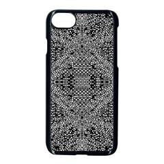 Black And White Psychedelic Pattern Apple Iphone 7 Seamless Case (black) by goodart