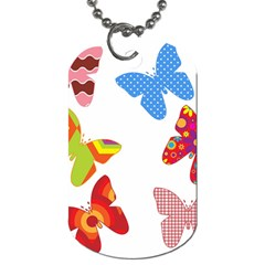 Colorful Butterflies Clipart Dog Tag (one Side) by goodart