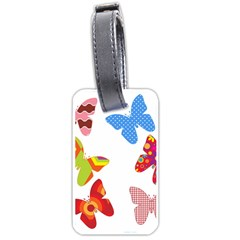 Colorful Butterflies Clipart Luggage Tags (one Side)  by goodart