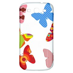 Colorful Butterflies Clipart Samsung Galaxy S3 S Iii Classic Hardshell Back Case by goodart