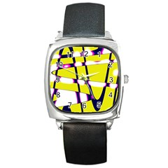 Graphic Square Metal Watch by goodart