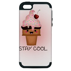 Stay Cool Apple Iphone 5 Hardshell Case (pc+silicone) by ZephyyrDesigns