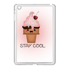 Stay Cool Apple Ipad Mini Case (white) by ZephyyrDesigns