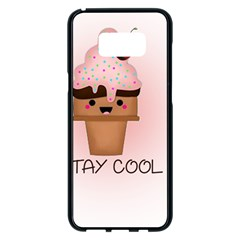 Stay Cool Samsung Galaxy S8 Plus Black Seamless Case by ZephyyrDesigns