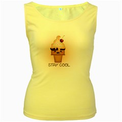 Stay Cool Women s Yellow Tank Top by ZephyyrDesigns