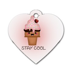 Stay Cool Dog Tag Heart (two Sides) by ZephyyrDesigns