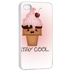 Stay Cool Apple Iphone 4/4s Seamless Case (white) by ZephyyrDesigns
