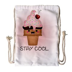 Stay Cool Drawstring Bag (large) by ZephyyrDesigns