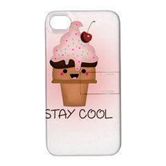 Stay Cool Apple Iphone 4/4s Hardshell Case With Stand
