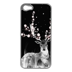 Deer Apple Iphone 5 Case (silver) by ZephyyrDesigns