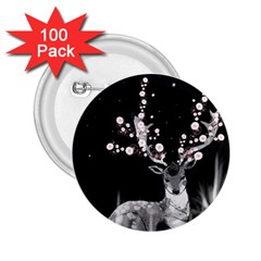 Deer 2 25  Buttons (100 Pack)  by ZephyyrDesigns