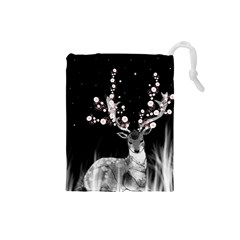 Deer Drawstring Pouches (small)  by ZephyyrDesigns